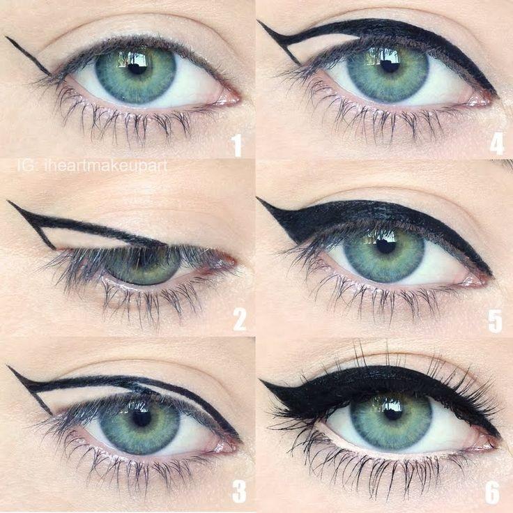 10 techniques pour r ussir votre trait d eye liner astuces pour filles - Comment faire un trait d eye liner ...