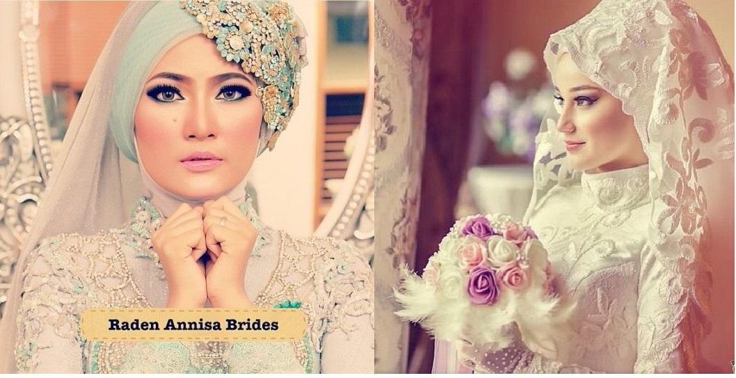 Robe de mariee avec hijab blanc