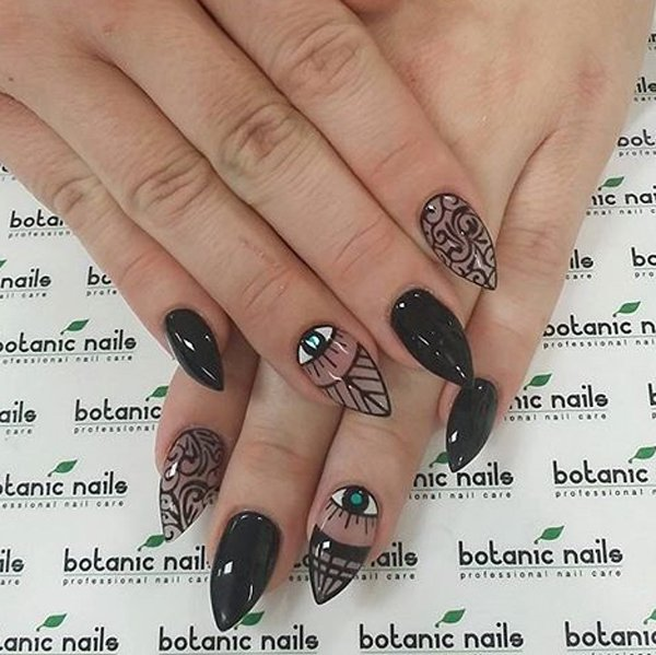 Cool-Black-Nail-Art.