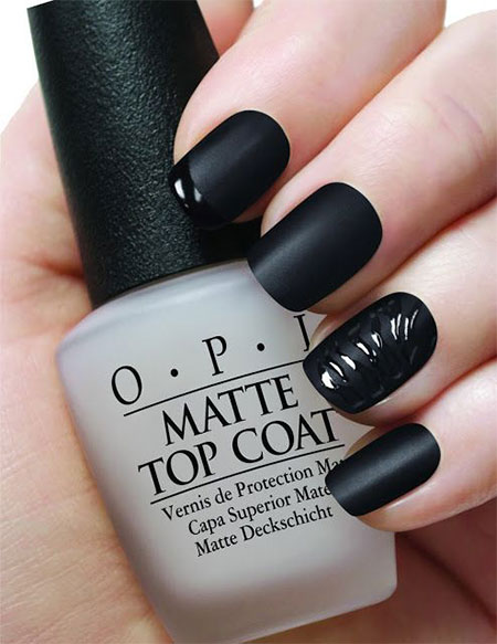 Very-Easy-Black-Nail-Art-Designs-Idea.