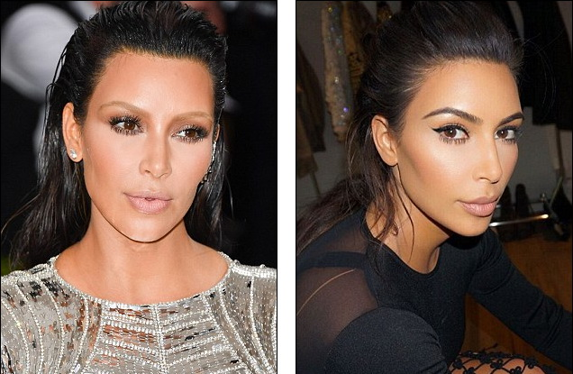 Kim-Kardashian-chang- La-Couleur-De-ses-Sourcils-Et-s-affiche-avec-Une-Grande-Perte-de-Pois-2