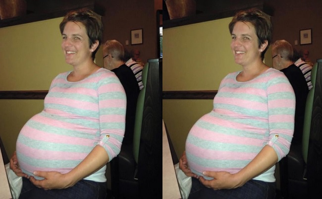 la maman  accouche de triplés  2