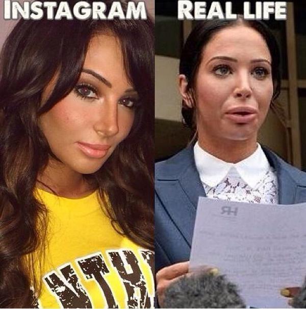 Instagram VS La vie réelles 3