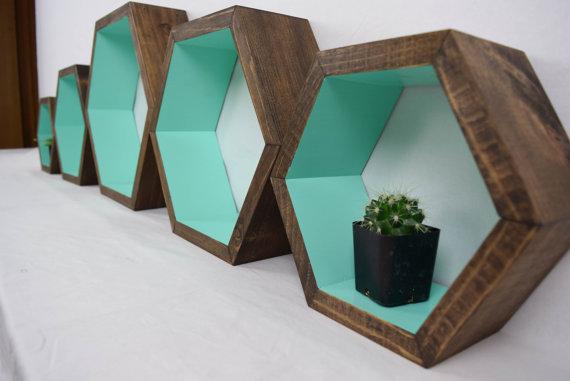 Id es d 39 tag re hexagonale pour d corer votre maison - Astuce pour decorer sa maison ...