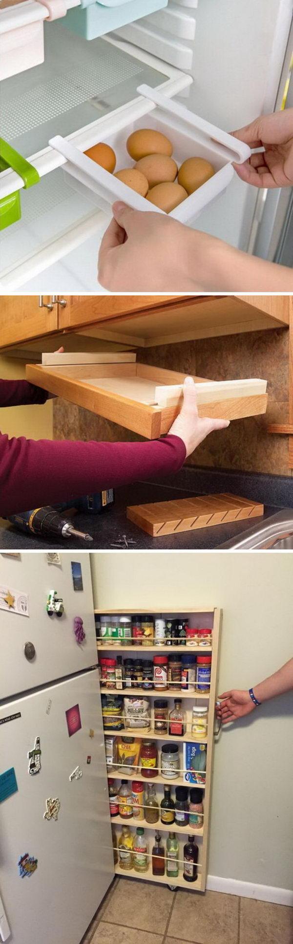 10 id es pour un rangement astucieux dans la cuisine astuces pour femmes. Black Bedroom Furniture Sets. Home Design Ideas