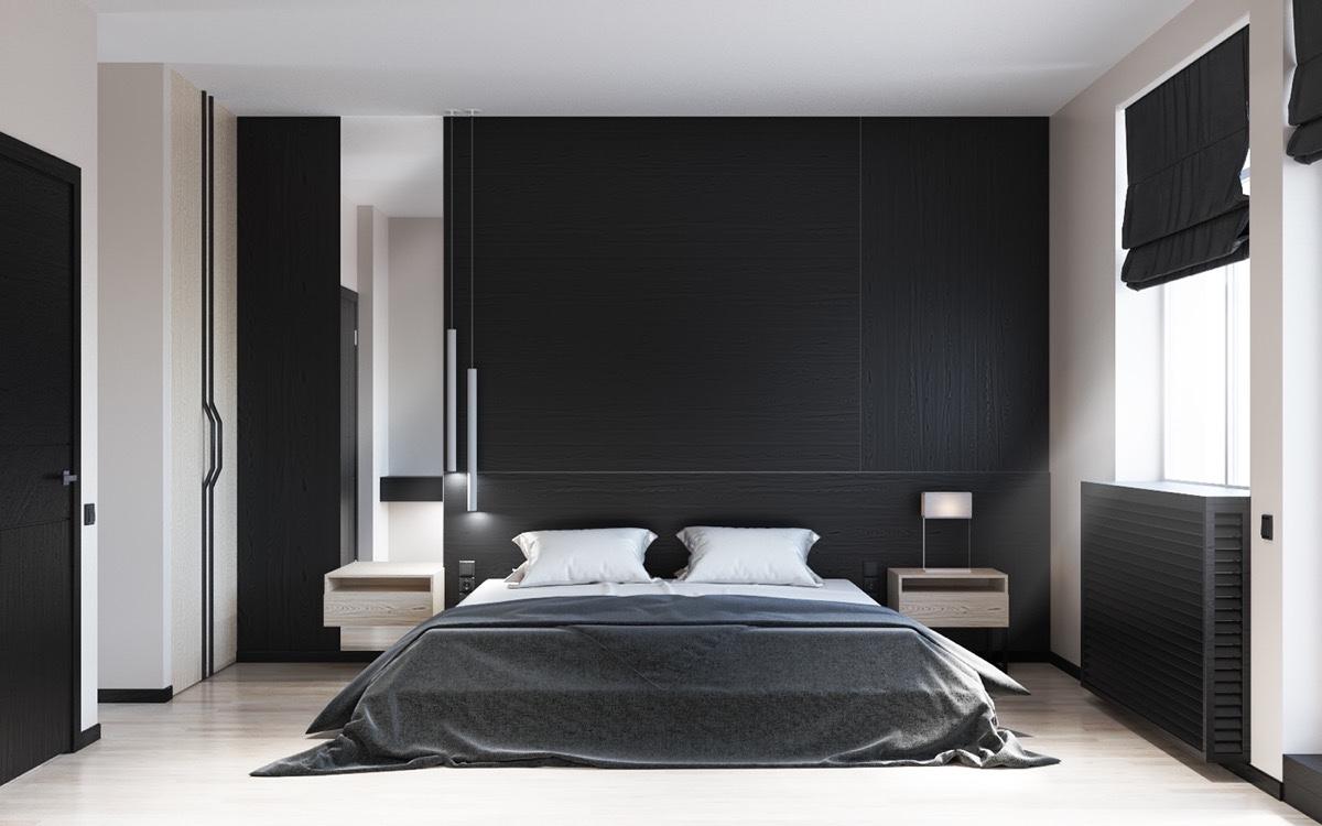 26 photos d233coration chambre a coucher moderne noir et