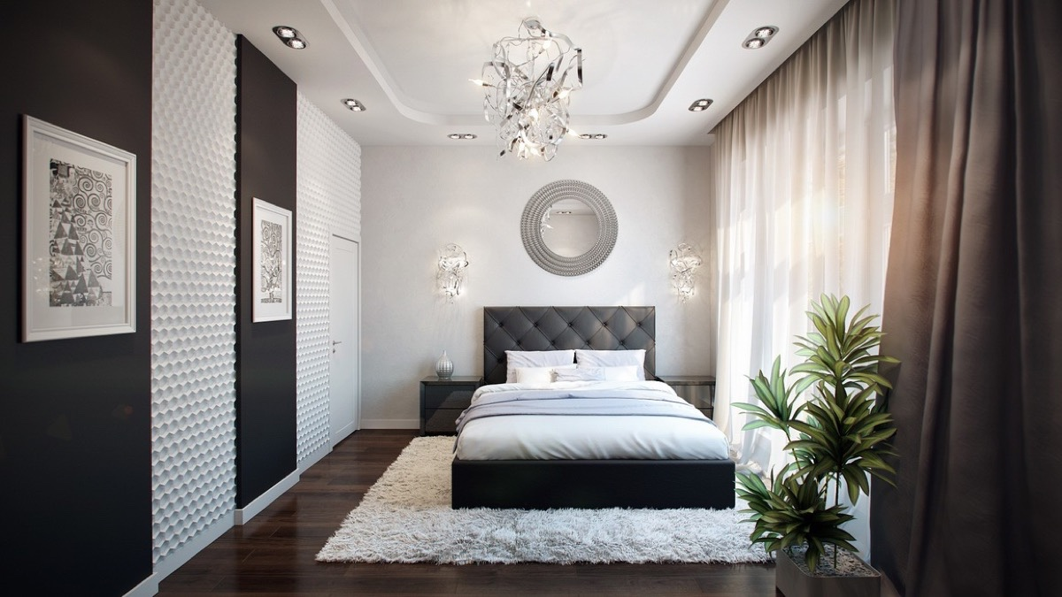 d coration chambre a coucher moderne noir et blanc 12 astuces pour femmes. Black Bedroom Furniture Sets. Home Design Ideas
