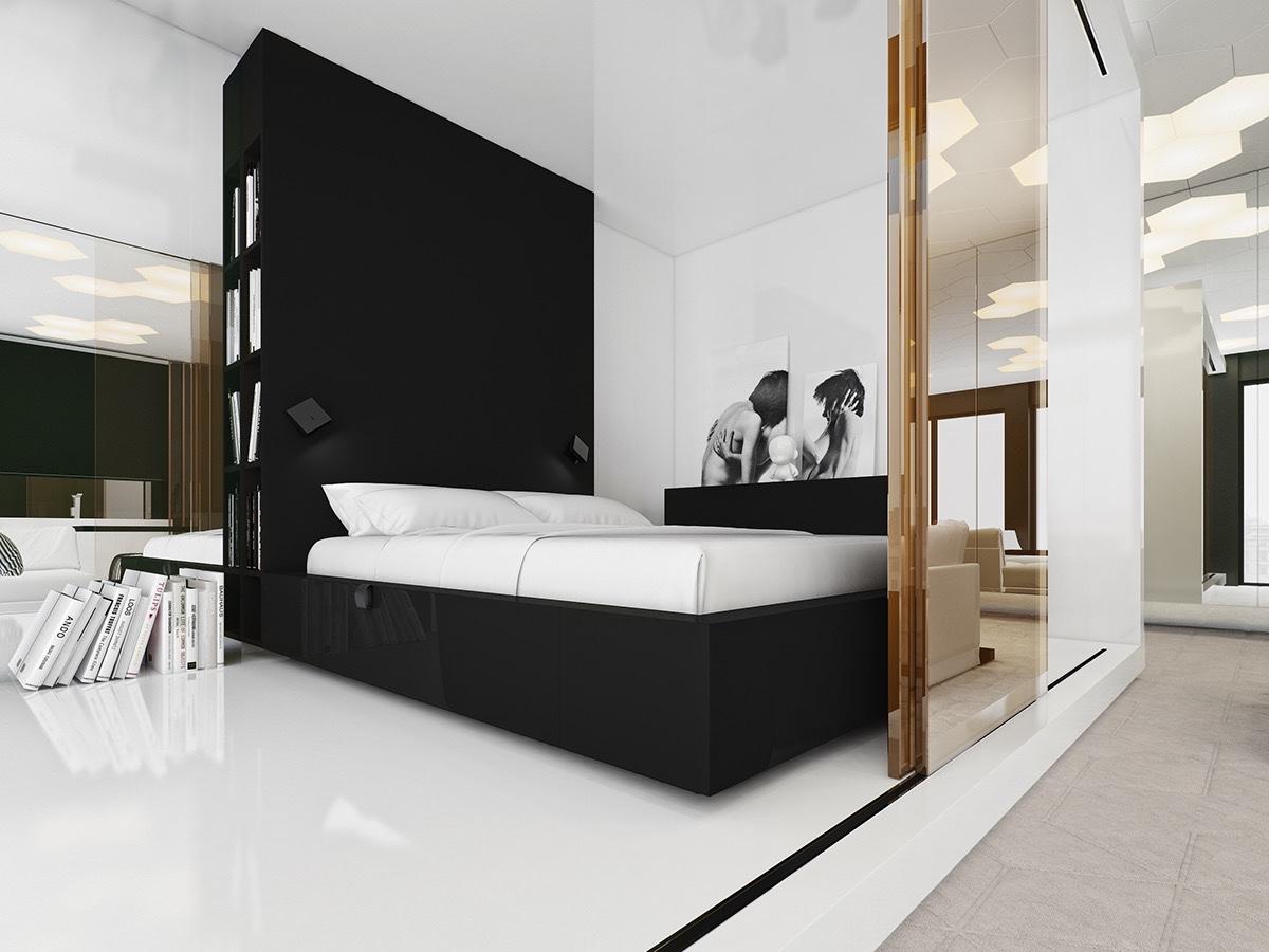 Décoration Chambre A Coucher Moderne Noir Et Blanc 15