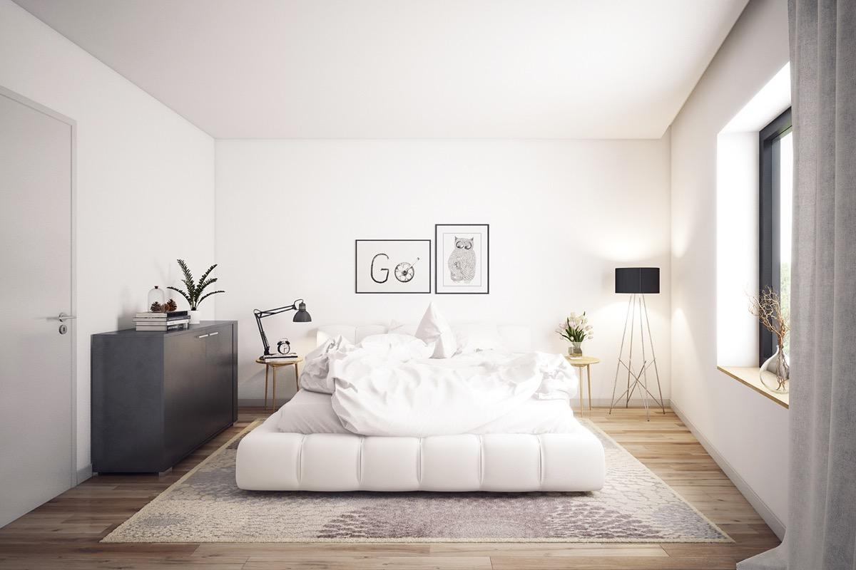 26 photos d coration chambre a coucher moderne noir et - Black or white bedroom furniture ...