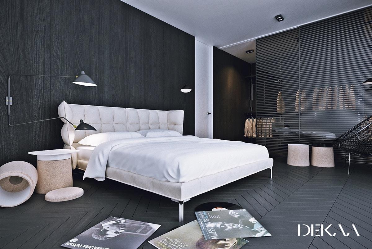 Décoration-chambre-a-coucher-moderne-noir-et-blanc-22 - Astuces ...