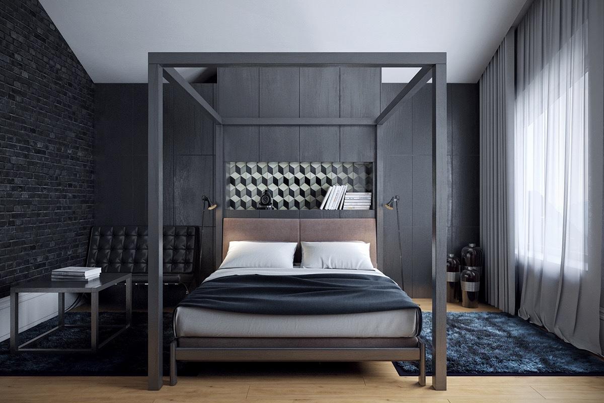 26 photos d coration chambre a coucher moderne noir et blanc astuces pour femmes. Black Bedroom Furniture Sets. Home Design Ideas