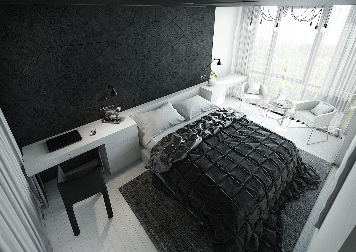 26 photos : Décoration chambre a coucher moderne noir et blanc ...