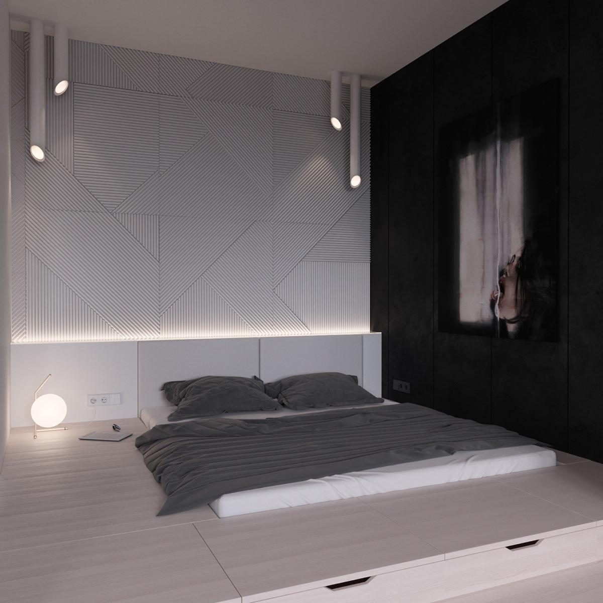 Décoration Chambre A Coucher Moderne Noir Et Blanc 9